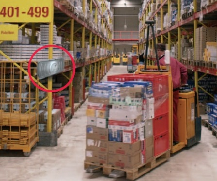 RFID - example of a location in a warehouse.